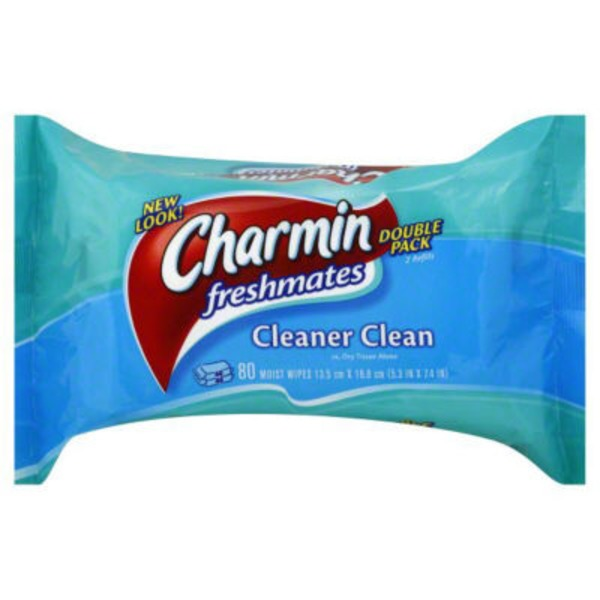 Charmin Fresh Cloths Charmin Freshmates 80 Count Refill Pack (2 Packs of 40 Count Fresh Wipes) Toilet Tissue