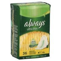 Always Thin Ultra Always Ultra Thin Regular Pads With Wings 36 count Feminine Care