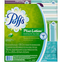 Puffs Plus Lotion Facial Tissues Family Box