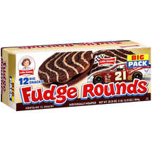 Little Debbie Individually Wrapped Fudge Rounds