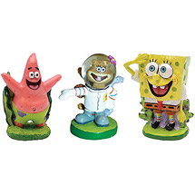 Penn-Plax SpongeBob Mini Figures Assorted Aquarium Decoration Character May Vary