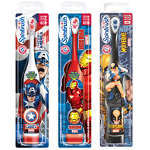 Arm & Hammer Spinbrush Kids Powered Marvel Heroes Toothbrush (Character will vary) each