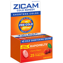 Zicam Rapidmelts Cherry Cold Remedy Tablets