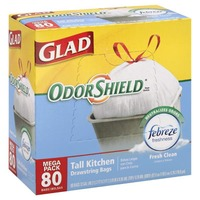 Glad Tall Kitchen Drawstring Bags Febreze Fresh Clean - 80 CT