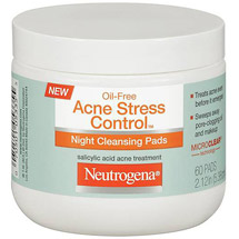 Neutrogena Oil-Free Acne Stress Control Night Cleansing Pads -
