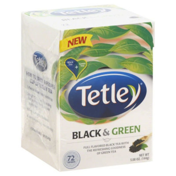 Tetley® Black & Green Round Tea Bags