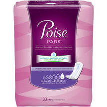 Poise Ultimate Absorbency Incontinence Pads Regular Length