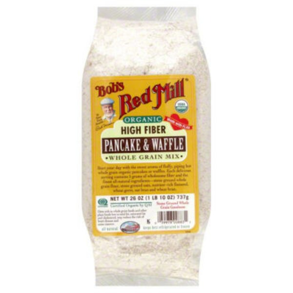 Bob's Red Mill Organic High Fiber Pancake & Waffle Mix