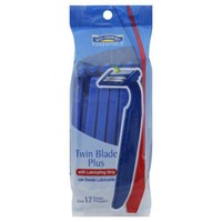 Hill Country Fare Twin Blade Plus With Lubricating Strip Disposable Razor