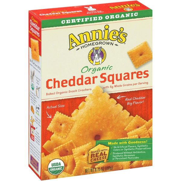 Annie's Homegrown Organic Cheddar Squares