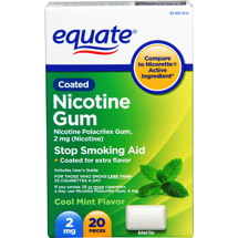 Equate Stop Smoking Aid Mint Gum 2mg