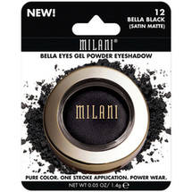 Milani Bella Eyes Gel Powder Eyeshadow 12 Bella Black Satin Matte
