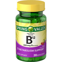 Spring Valley Sublingual B12 Microlozenges