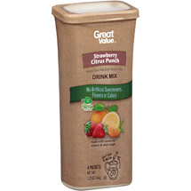 Great Value Strawberry Citrus Punch Drink Mix