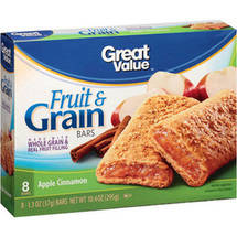 Great Value Apple Cinnamon Fruit & Grain Bars