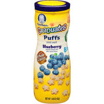 Gerber Graduates Puffs Blueberry Cereal Snacks