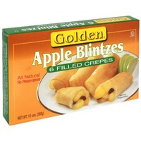 Golden. Apple Blintzes Filled Crepes