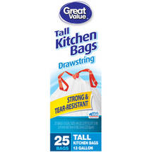 Great Value Tall Drawstring Kitchen Bags