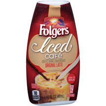 Folgers Iced Cafe Original Latte Coffee Drink Concentrate