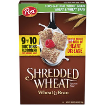 Post Shredded Wheat Wheat 'N Bran Spoon Size Cereal