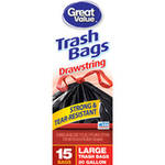 Great Value Drawstring Trash Bags