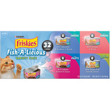 Friskies Seafood 32 Count Variety Pack