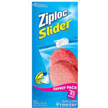Ziploc Slider Gallon Freezer Bags