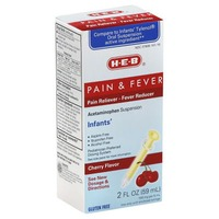 H-E-B Pain & Fever Cherry Flavor Acetaminophen Suspension