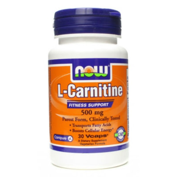 Now L-Carnitine 500 mg Fitness Support Capsules