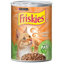 Friskies Classic Pate Cat Food Poultry Platter
