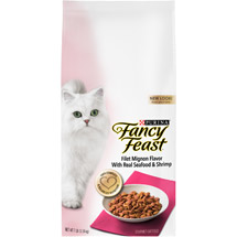 Fancy Feast Dry Cat Food Filet Mignon Flavor With Real Seafood & Shrimp