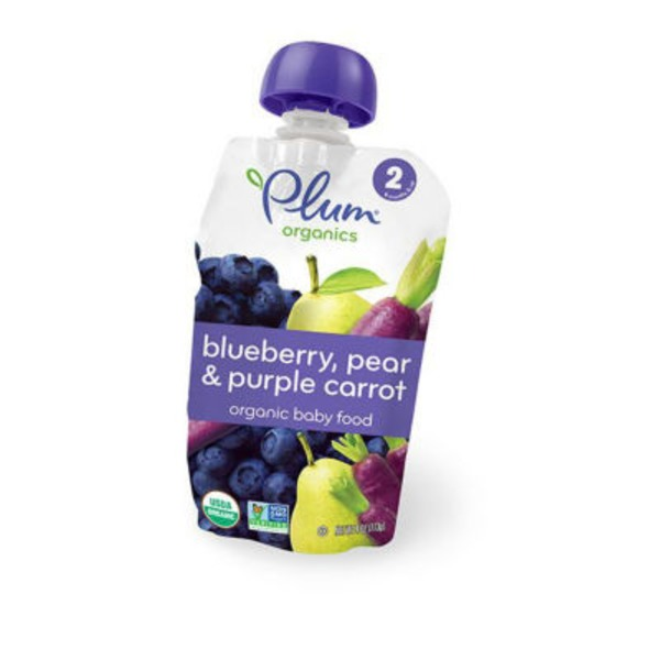 Plum Organics Stage 2 Pear, Purple Carrot & Blueberry Baby Food