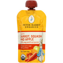 Peter Rabbit Organics Carrot Squash and Apple 100% Veg and Fruit Puree Baby Food