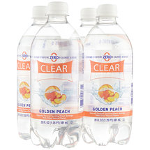 Clear American Golden Peach Sparkling Water Beverages