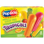 Popsicle Sugar Free Tropical Orange Caribbean Fruit Punch & Hawaiian Pineapple 20ct Ice Pops