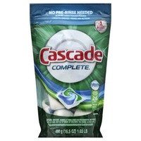 Cascade Complete ActionPacs With The Power Of Clorox Dishwasher Detergent Fresh Scent 22 Ct Dish Care