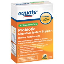 Equate Probiotic Digestive System Support Capsules