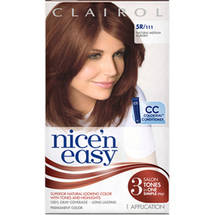 Clairol Nice 'n Easy Hair Color 111 Natural Medium Auburn 1 Kit