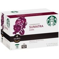 Starbucks Sumatra Single-Origin Dark Roast K-Cup Pods Ground Coffee