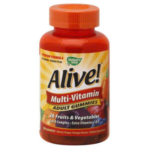 Nature's Way Alive! Multi-Vitamin Adult Gummies Orchard Fruits-Garden Veggies - 90 CT