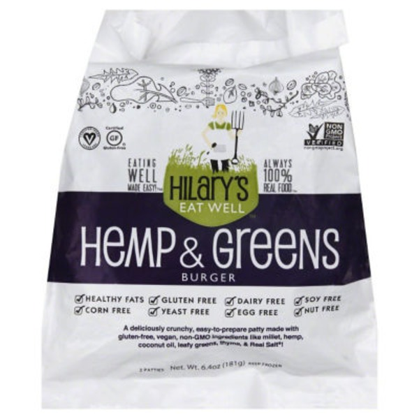 Hilary's Eat Well Hemp & Greens Burger
