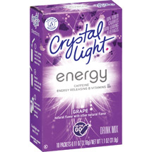 Crystal Light On The Go Energy Grape Drink Mix