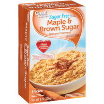 Great Value Sugar Free Maple & Brown Sugar Instant Oatmeal