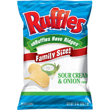 Ruffles Sour Cream & Onion Ridged Potato Chips