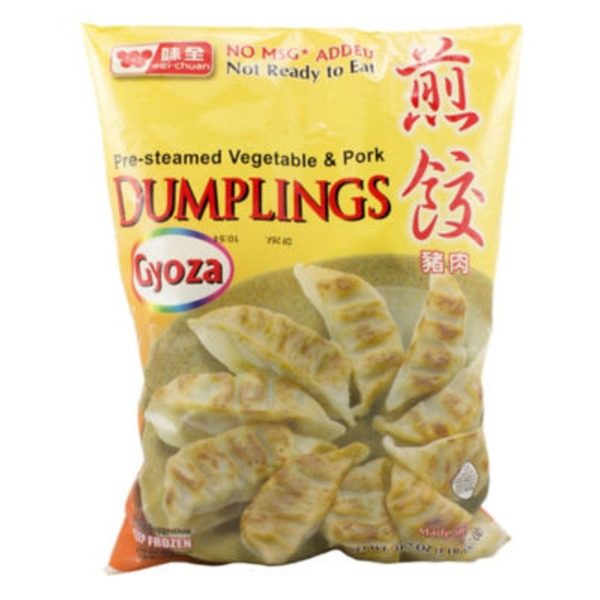 Wei Chuan Pre-Steamed Vegetable & Pork Dumplings