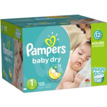 Pampers Baby Dry Diapers Huge Box Size 1