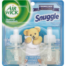 Air Wick Scented Oil Air Freshener Familiar Favorites Collection Twin Pack Snuggle Fresh Linen