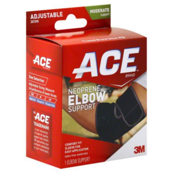 ACE Elbow Support, Neoprene, Adjustable, Moderate Support