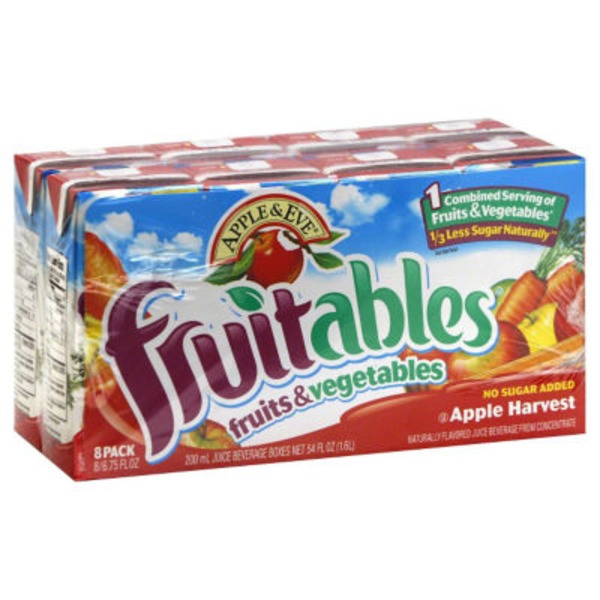 Apple & Eve Fruits & Vegetables Apple Harvest Juice Beverage Fruitables