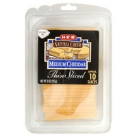 H-E-B Medium Cheddar Thin Sliced